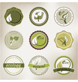 eco badges vector image vector image