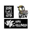 evil bat character halloween element vector image vector image