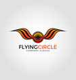 flying circle logo template vector image