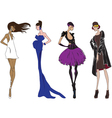 Four fashion girl vector | Price: 1 Credit (USD $1)