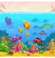 Funny cartoon underwater vector image vector image