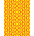 geometric abstract colorful mosaic yellow orange vector image vector image