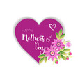 happy mothers day logo isolated holiday greeting vector image vector image