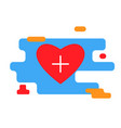 heart icon with plus sign trendy modern vector image vector image