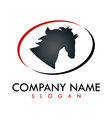 horse business logo vector image vector image