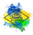 Inscription Rio de Janeiro on a background vector image