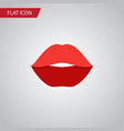 isolated rouge flat icon mouth element can vector image