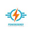 lightning - logo template concept vector image