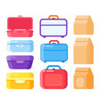 lunch container set for take away food snacks vector image vector image