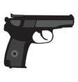 Makarov pistol PM silhouette vector image