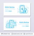 mobile banking symbols vector image