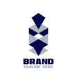 modern geometric spartan helmet logo vector image