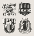 monochrome brewery vintage emblems vector image