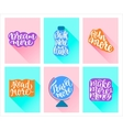 motivational posters vector image