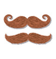 mustaches hipster style icons vector image