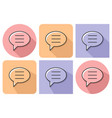 outlined icon of elliptical speech bubble with vector image