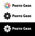 Photo gear logo template vector image