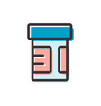 pills jar flat outline icon vector image