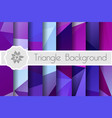 polygonal background for craft vector image vector image