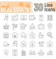real estate thin line icon set home signs vector image vector image
