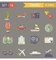 Retro Travel Rest Symbols Tourist Accessories vector image vector image