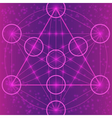 Sacred geometry symbols and elements vector image vector image
