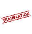 scratched textured translation stamp seal vector image