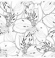 seamless pattern in alstroemeria with contours vector image vector image