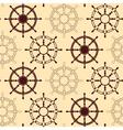 Seamless pattern made of steering wheels vector image