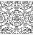 seamless tree pattern 020 grunge vector image vector image