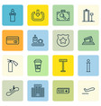 set of 16 traveling icons includes information vector image vector image