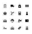 shopping - flat icons vector image