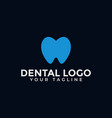 simple tooth care dental clinic dentist logo vector image vector image