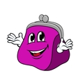 Smiling cartoon purse with hands vector image vector image