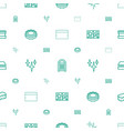 sponge icons pattern seamless white background vector image vector image