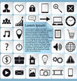sticker icons web design vector image vector image