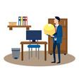 successful businessman avatar cartoon vector image