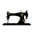 tailor logo vintage sewing machine icon vector image