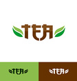 Tea text logo vector image vector image