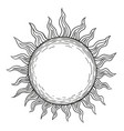 the sun a linear drawing in the style of vector image vector image