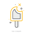 Thin line icons Ice cream vector image vector image