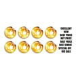 Thumbs up icons set Gold