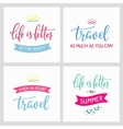 Travel life style inspiration quotes vector image vector image