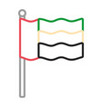 united arab emirates flag neon lines vector image vector image