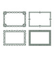 vintage frames collection grey borders isolated vector image