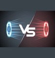 vs glow scene rays energy conflict game versus vector image vector image