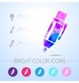 watercolor icon vector image vector image