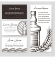 Whisky bouqlet and cards templates set vector image vector image
