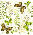 white effortless floral wallpaper vector image
