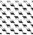wild goat pattern seamless background vector image